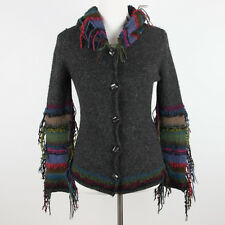 Beyond Threads Alpaca Sweater XS Cardigan Fringed Hippie Boho Festival Fairy Fae