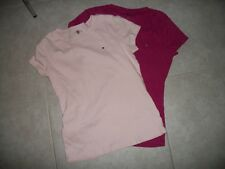 Lot of 2 tee shirts t shirts Tommy Hilfiger Womens size L Large pink