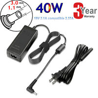 AC Adapter Charger for Acer Chromebook 15 14 13 11 R11 CB3-111 C720 NEW 3.0mm