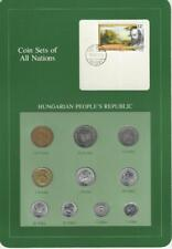 Coin Sets of All Nations - Hungary, 10 coin set, 1990 Filler coins, Scarce