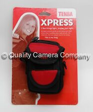 Tenba Xpress Pouch Small for Digital Camera and Accessories (Black/Red) #638-504