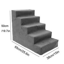 4/5 Steps Pet Stairs Indoor Ramp for Animal Cat Dog Ladder with Removable Cover