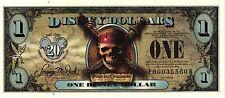 ORIGINAL $1 2007-F-B (BLACK PEARL) DISNEY DOLLARS UNC