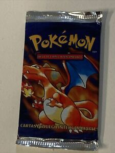 1999 Pokemon Charizard Base Set Booster Pack Factory Sealed Spanish