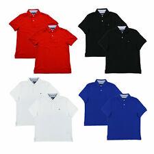 Tommy Hilfiger Camisa Polo Para Hombre Ajuste Personalizado Interlock Lote De 2 Th Casual Nuevo Nuevo Con Etiquetas