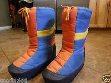 Vintage Retro Blue Orange Yellow 70'S 80'S Boots W 9-10