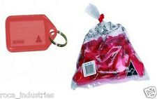 Kevron Key Ring Tags - Red - Bag of 50 Tags - FREE SHIPPING & GST INVOICE