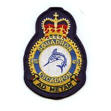 RCAF CAF Canadian 415 Squadron Heraldic Colour Crest Patch
