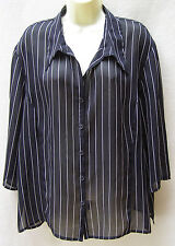 Millers black striped shirt ~ Size 18