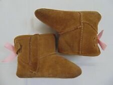 Toddler Baby Girl Ugg Jesse Pink Bow Boots Size 4/5 Sherpa Lined