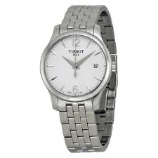 Tissot Tradition Silver Dial Stainless Steel Ladies Watch T0632101103700