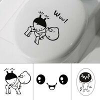 Creative DIY Removable Smile Face Bathroom Toilet Seat Wall Sticker Home Decor