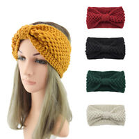 Ladies Knitted Woolen Headband Bow Sports Hair Bands Headwrap Hair Accessories