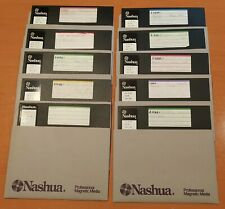 """10 x NASHUA  8 Inch Double Sided Double Density 8"""" Floppy Disk DS DD  SS DD"""