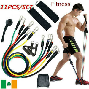 Resistance Bands Workout Exercise Yoga 11 Pcs Set Crossfit Fitness Tube Gym Band