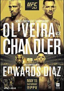 "UFC 262 Official 22"" x 28"" Fight Poster Oliveira Vs Chandler"