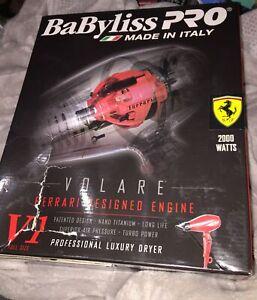 BaByliss Pro Volare V1 Luxury Hair Dryer Ferrari Designed Engine New Open Box
