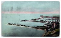 1908 Lake Erie Harbor View, Erie, PA Postcard Postcard