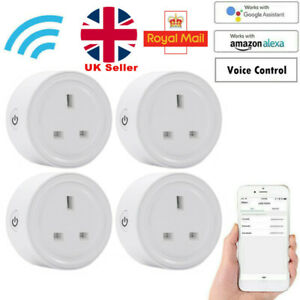 4 Packs Smart Plug UK Wifi Socket Outlet Switch for Amazon Alexa Google Home UK