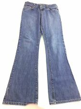 ABERCROMBIE & FITCH DENIM JEANS WOMENS MED WASH BOOT CUT LOW RISE SIZE 4