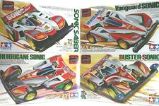 TAMIYA MINI 4WD Sonic Saber+Vanguard Sonic+Hurricane Sonic+Buster Sonic SET