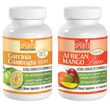 Garcinia Cambogia Extract 1300 + African Mango Lean 1200 Weight Loss Combo (1+1)