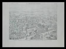 PARIS, HOPITAL MICHEL BIZOT - 1899-  2 PLANCHES ARCHITECTURE - MAISTRASSE