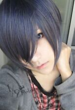 Anime Black Butler Ciel Kuroshitsuji Phantomhive Gray mixed blue Cosplay Wig