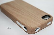 iPHONE 4 4G 4S - HARD & SOFT DUAL LAYER FUSION CASE COVER BROWN WOOD GRAIN TREE