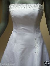 Maggie Sottero White Strapless Short Sleeve Wedding Bridal Gown Size 6 8 10
