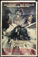 RUNAWAY TRAIN Jon Voight Vintage  1986 Original FF 1-Sheet Movie Poster 27 x 41