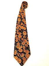 "Aeropostale Men's 100% Cotton Tie USA Yellow Sunflowers Bees 3.75"" Floral EUC"