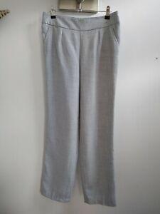New David Nieper 12 Grey Uncrushable Trousers Smart