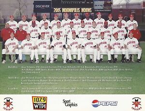 2005 INDIANAPOLIS INDIANS TEAM PICTURE 8 X 10 PHOTO