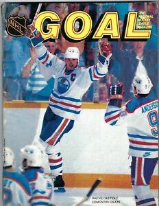 1980s?? hockey GOAL magazine Wayne Gretzky, Edmonton Oilers VERY GOOD
