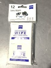 NEW - Zeiss Eyeglass Glasses Cleaning Wipes - Individually Wrapped 12 Pack