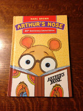 Rare SIGNED w AN ARTHUR SKETCH! Marc Brown ARTHUR'S NOSE 25th Anniversary Ltd Ed