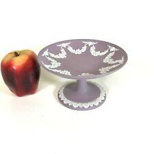 New ListingWedgwood Lilac Jasperware Tazza Footed Dish