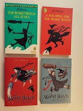 4 pbs-Jill Murphy-Worst Witch:in Trouble,At School-NEW-All At Sea-Bad Spell-VG*