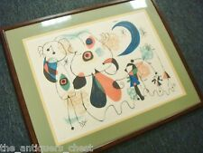 Joan Miro Spanish Signed & Numbered Lithograph #220/375 signed on the lower left
