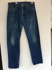 Vintage LEVI's Selvedge Redline #501 Blue Denim Jean Pants Size 33/32 Actual
