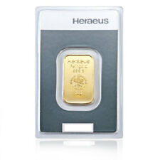 10 Gramm Goldbarren Heraeus Gold 999,9 Feingold Barren - 15 Euro Rabatt ab 3 St.