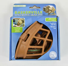 Baskerville Ultra Muzzle for Dogs, Permits Panting & Drinking- Size 3, Tan