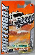 Matchbox 2012 #11 MBX Beach Surf Doc 1963 Cadillac Ambulance MOC Mattel W4833
