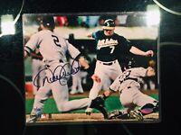 "Derek Jeter Signed Autographed 8x10 Photo Steiner COA ""The Flip"""