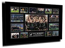 ALL BLACKS 2015 RWC WINNERS SIGNED LIMITED EDITION FRAMED MEMORABILIA