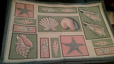 New listing Home Decor Kitchen Placemats Set of 4 New 13X20 Nautical Beach Seashells Ocean
