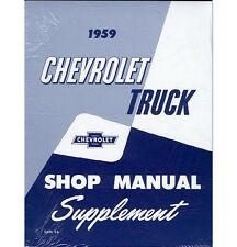 1959 Chevy Truck Shop Manual Supplement