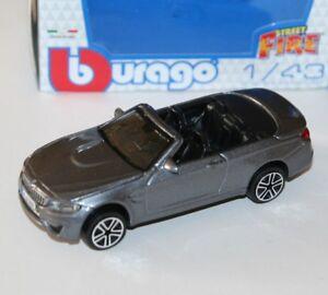Burago - BMW M4 (Grey - Cabrio) 'Street Fire' Model Scale 1:43