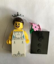 LEGO Series 7 Bride Minifigure Wedding Dress Flowers Gown Veil 8831 CMF lady